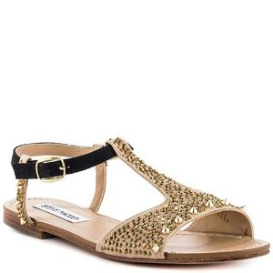 NWT Steve Madden Torment Gold Multi Sandals